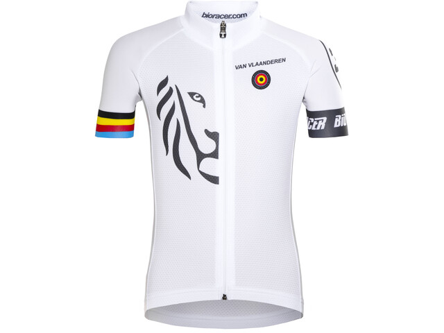 Bioracer Van Vlaanderen Pro Race Pyöräilypaita Lapset, white